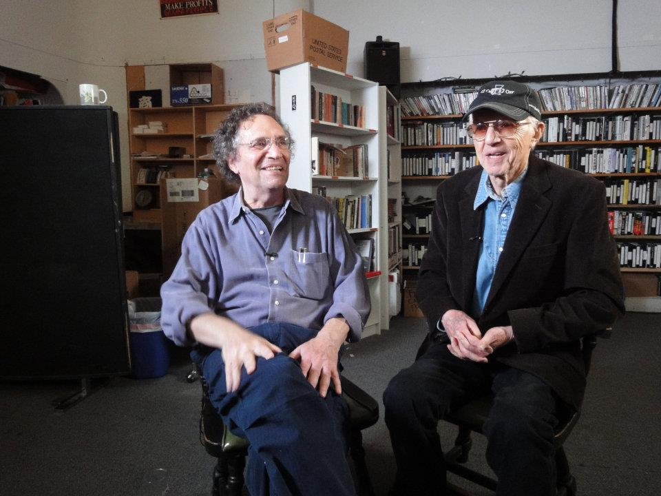 Gordon Quinn and Haskell Wexler at Kartemquin