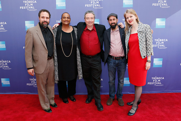 "(L-R) Musician Josh Abrams, Khalilah T. Camacho-Ali, director Bill Siegel, editor Aaron Wickenden and producer Justine Nagan attend ""The Trials of Muhammad Ali"" World Premiere on April 26, 2013 in New York City."